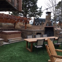 1805 Turf Pergola Hot Tub Area Built in Fireplace Area