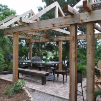 1701 A Frame Pergola Brick Patio