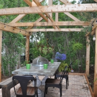 1704 Brick Patio A Frame Pergola