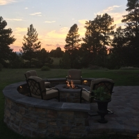 1712 Fire Pit at Sunset