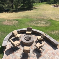1714 Fire Pit Seat Wall Paver Patio
