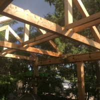 1719 Pergola A Frame Over Table