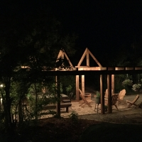 1720 Pergola Area Night View