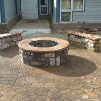 1603D - Hospice Stone Firepit and Seat Walls
