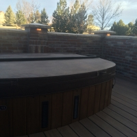 1603E - Stone Columns and Wall and Jacuzzi