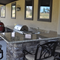 1609A - Outdoor Kitchen BBQ Sink Granite Countertop