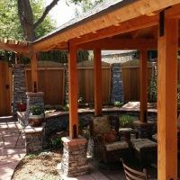 1508R - Custom Fence Stone Columns Stone Seat Wall Caps Pavilion Stone Columns Flagstone Patio Path