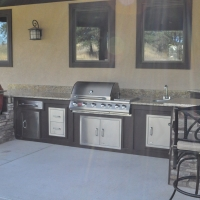 1609C - Stone and Granite Outdoor Kitchen BBQ Sink Warming Drawer