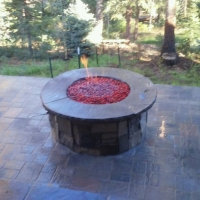 1609E - Flaming Stone Firepit Paver Patio