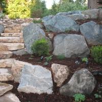 1508O - Moss Boulder Granite Boulder Siloam Stone Step