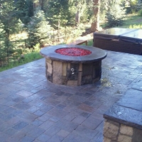 1609F - Paver Patio Seat Wall Firepit