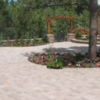 1608D - Paver Patio Stone Column Arbor