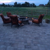 1608F - Paver Patio with Firepit Low Volatge Light
