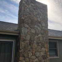 2002 Stone Chimney After