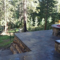 1609G - Paver Patio Snow Melt Stone Firepit