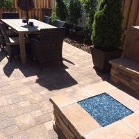 1508Q - Paver Patio Stone Firepit Seat Wall With Back