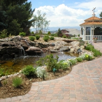 1608E - Paver Patio Water Feature Gazebo