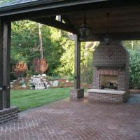1508U - Paver Patio Stone Fireplace Water Feature